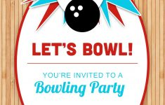 Free Printable Bowling Birthday Party Invitations