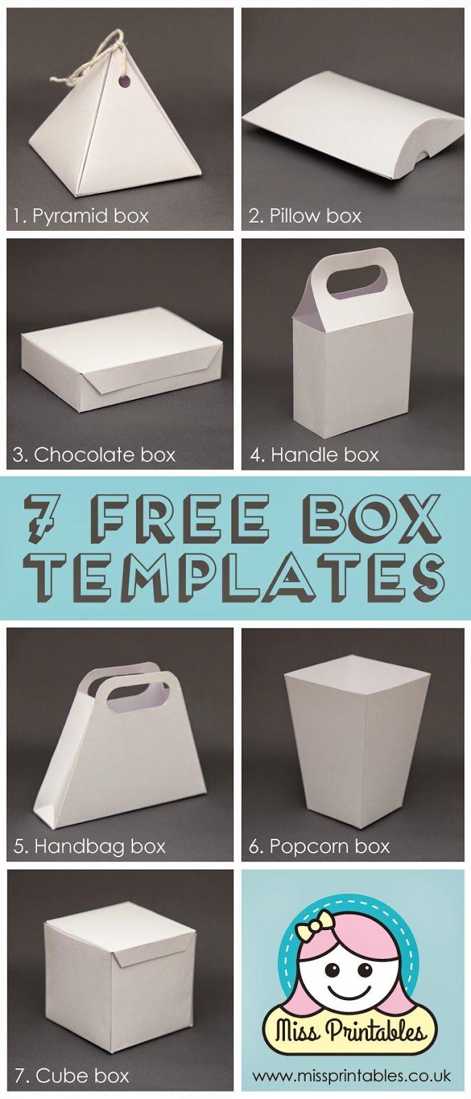 Box Template Free   Templates & Paper Folding   Pinterest   Diy Gift - Gift Box Templates Free Printable
