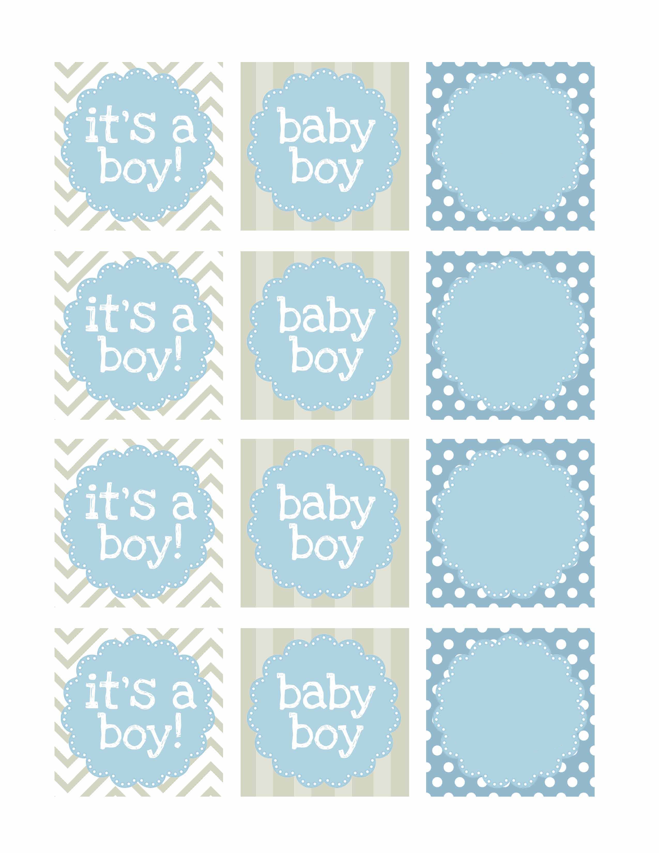 Boy Baby Shower Free Printables - How To Nest For Less™ - Free Printable Baby Shower Labels And Tags
