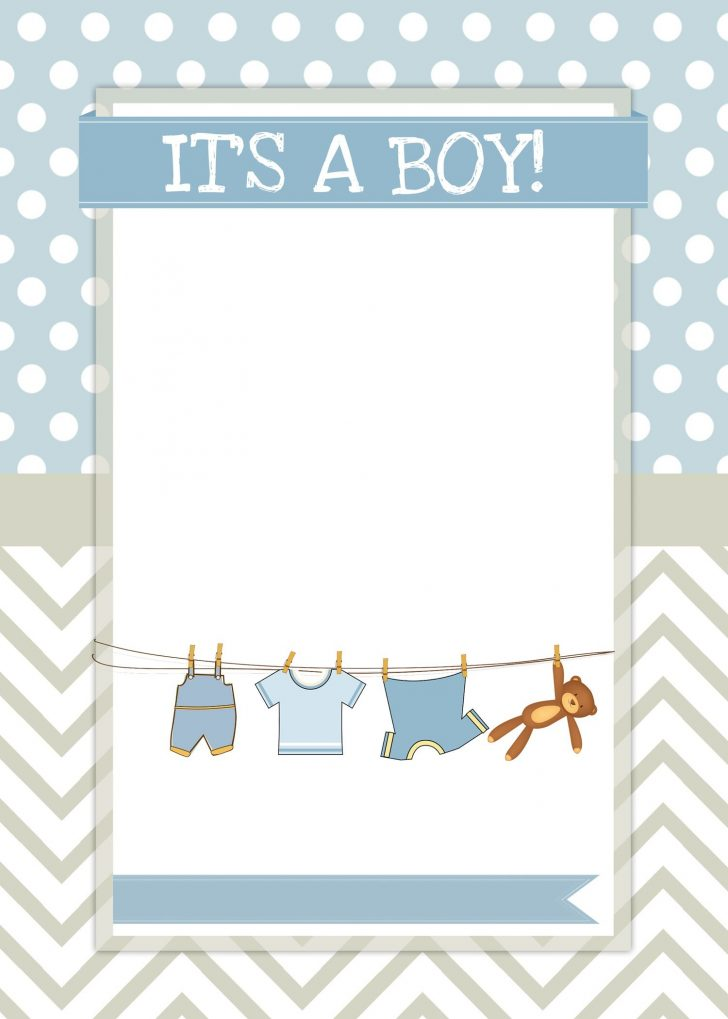 Free Baby Boy Shower Invitations Printable