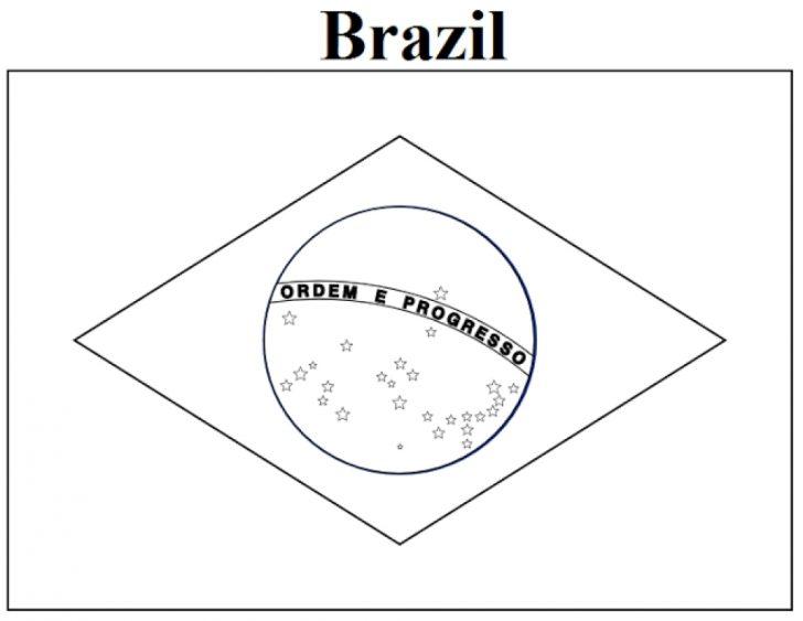 Free Printable Brazil Flag