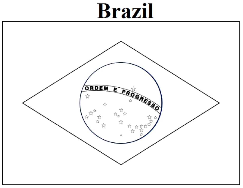 Brazil Flag Coloring Page - Coloring Pages - Free Printable Brazil Flag