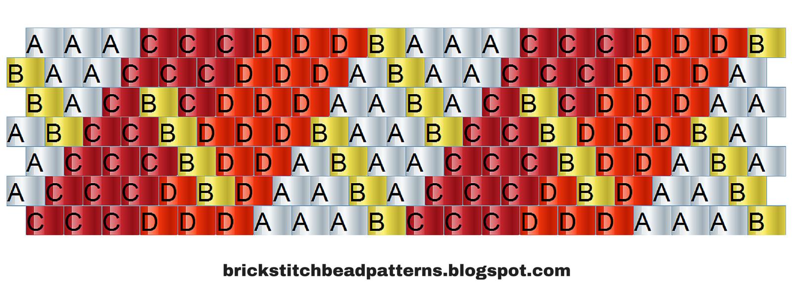 Brick Stitch Bead Patterns Journal: #10 Free Brick Stitch Pony Bead - Pony Bead Patterns Free Printable