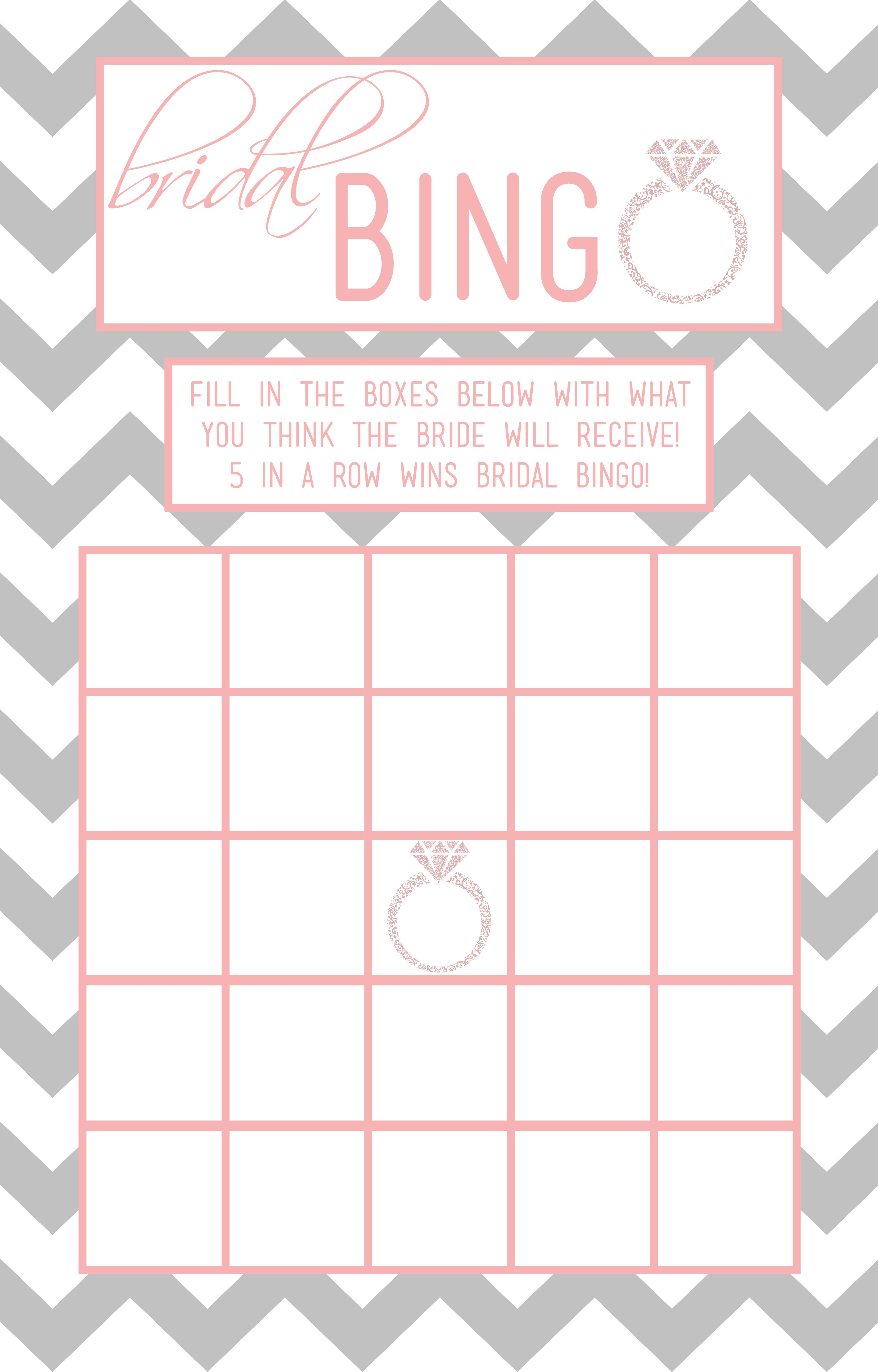Bridal Bingo Template – 28 Images – Free Printable Bridal Shower - Free Printable Bridal Shower Bingo