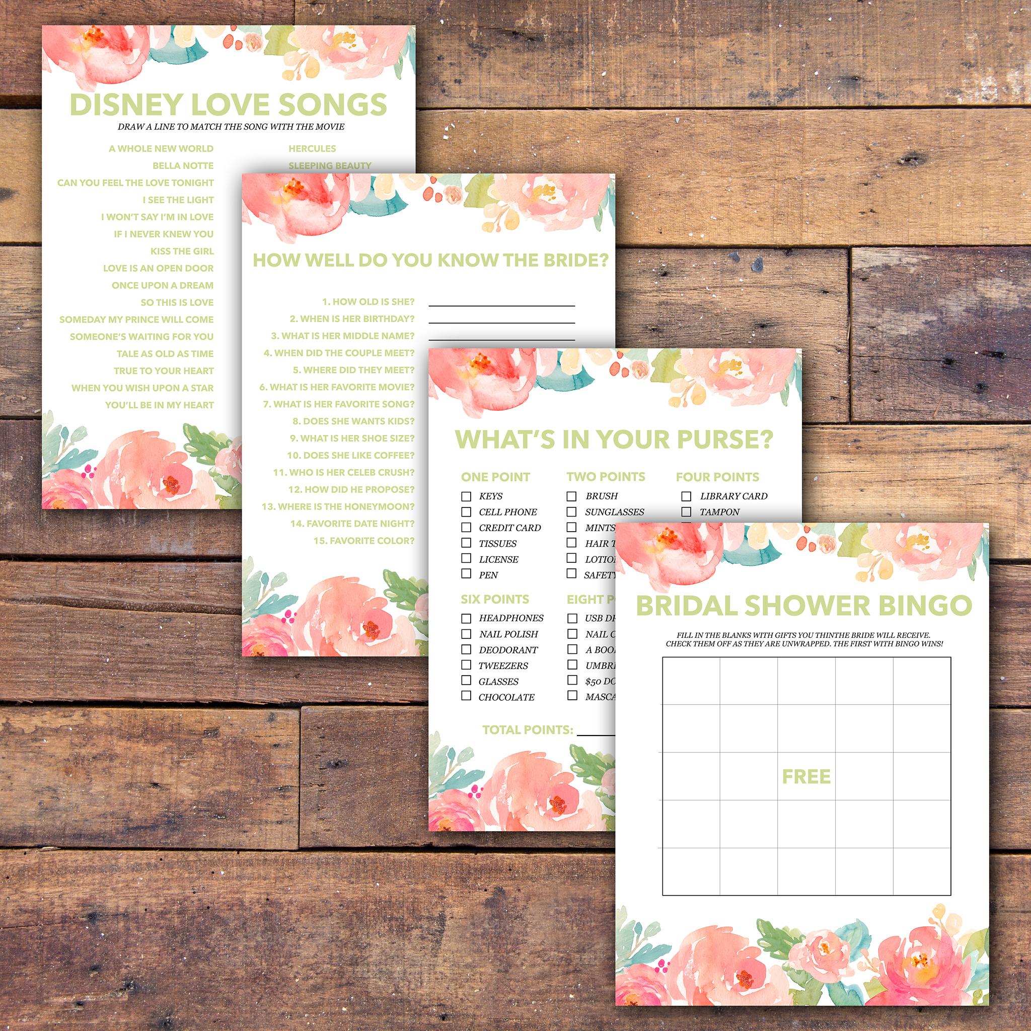 Bridal Shower Games Free Printable - - Samantha Jean Photograhy - Free Printable Bridal Shower Games What's In Your Purse