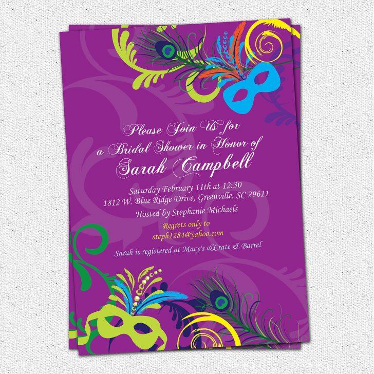 Free Printable Mardi Gras Invitations
