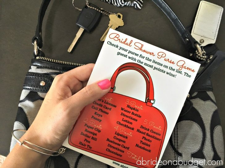 Free Printable What's In Your Purse Game