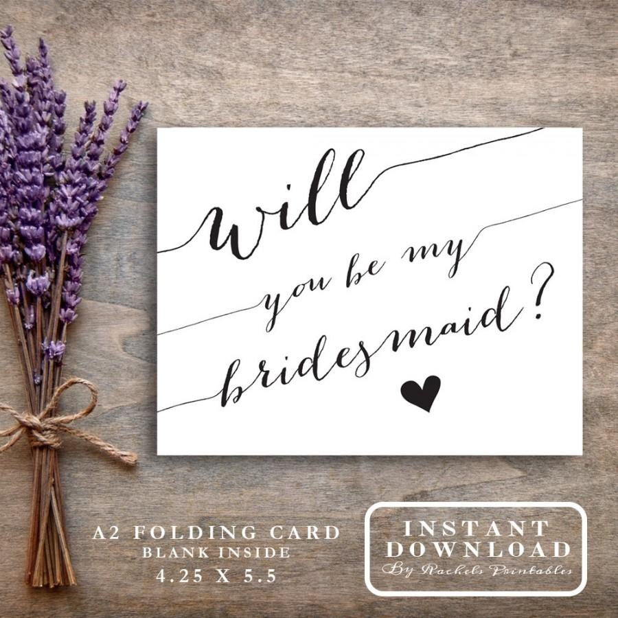 """Bridesmaid Card Printable """"will You Be My Bridesmaid"""" Asking - Free Printable Will You Be My Bridesmaid Cards"""