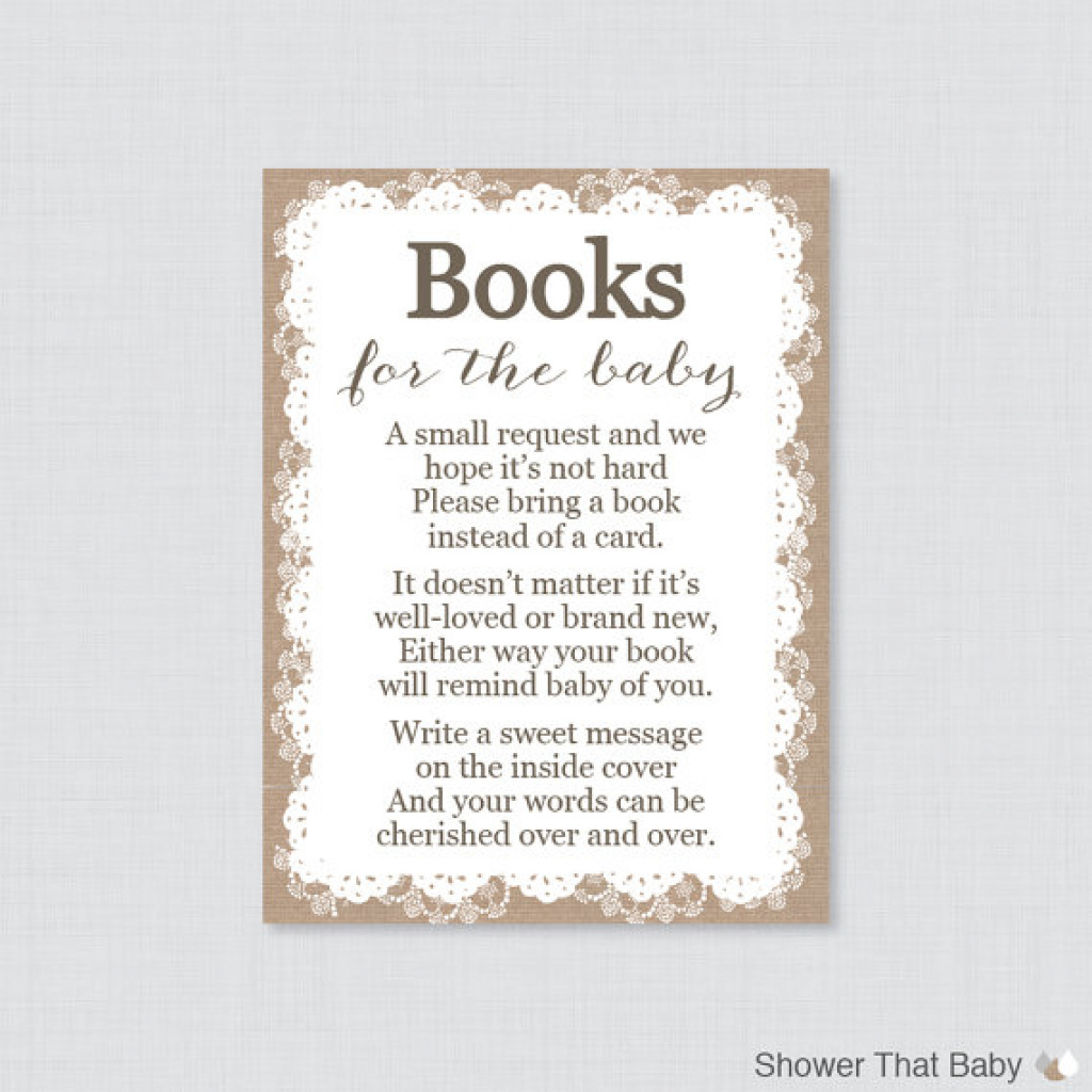 Bring A Book Instead Of A Card Free Printable | Free Printable - Bring A Book Instead Of A Card Free Printable