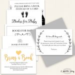 Bring Book Request Card (6 Designs!)   A Jubilee Day   Bring A Book Instead Of A Card Free Printable