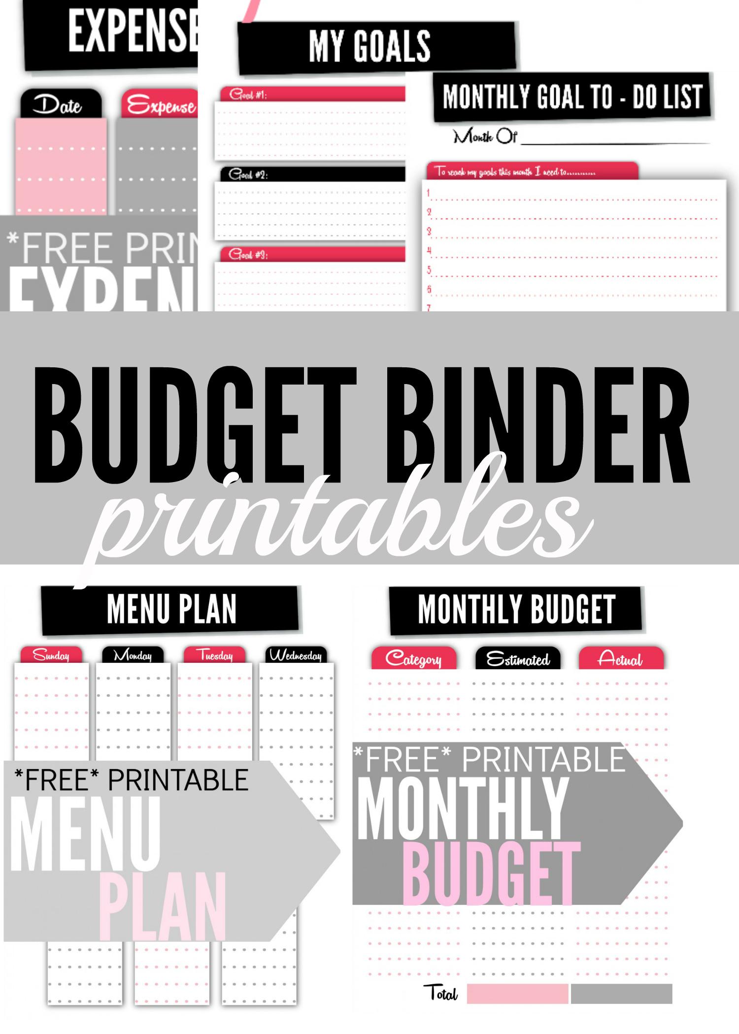 Budget Binder Printables - Single Moms Income - Free Printable Budget Binder Worksheets