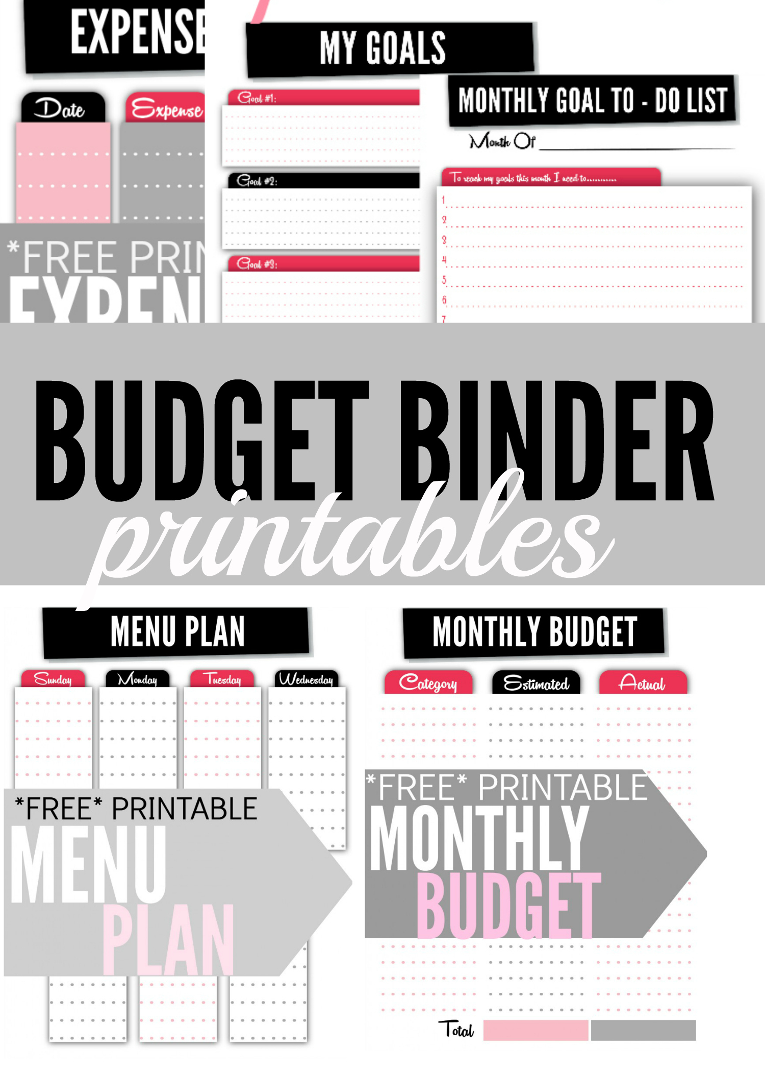 Budget Binder Printables - Single Moms Income - Free Printable Financial Binder