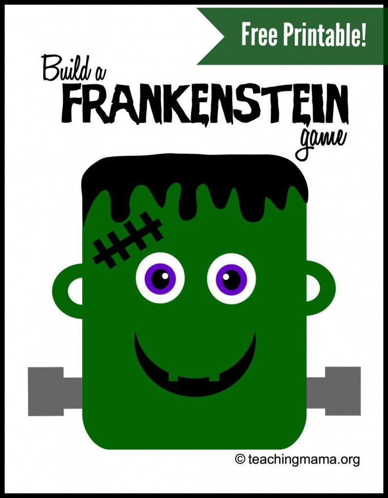 Build A Frankenstein Game -- Free Printable For A Super Fun Game - Roll A Monster Free Printable