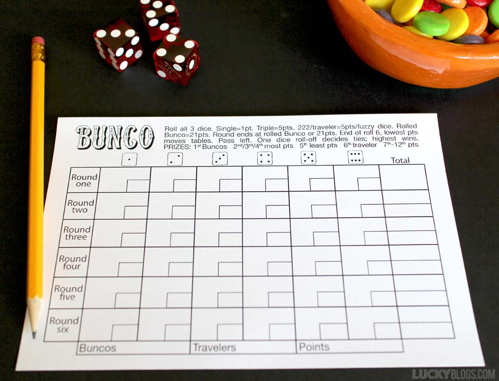 Bunco Score Sheet Free Printable - - Free Printable Bunco Score Sheets