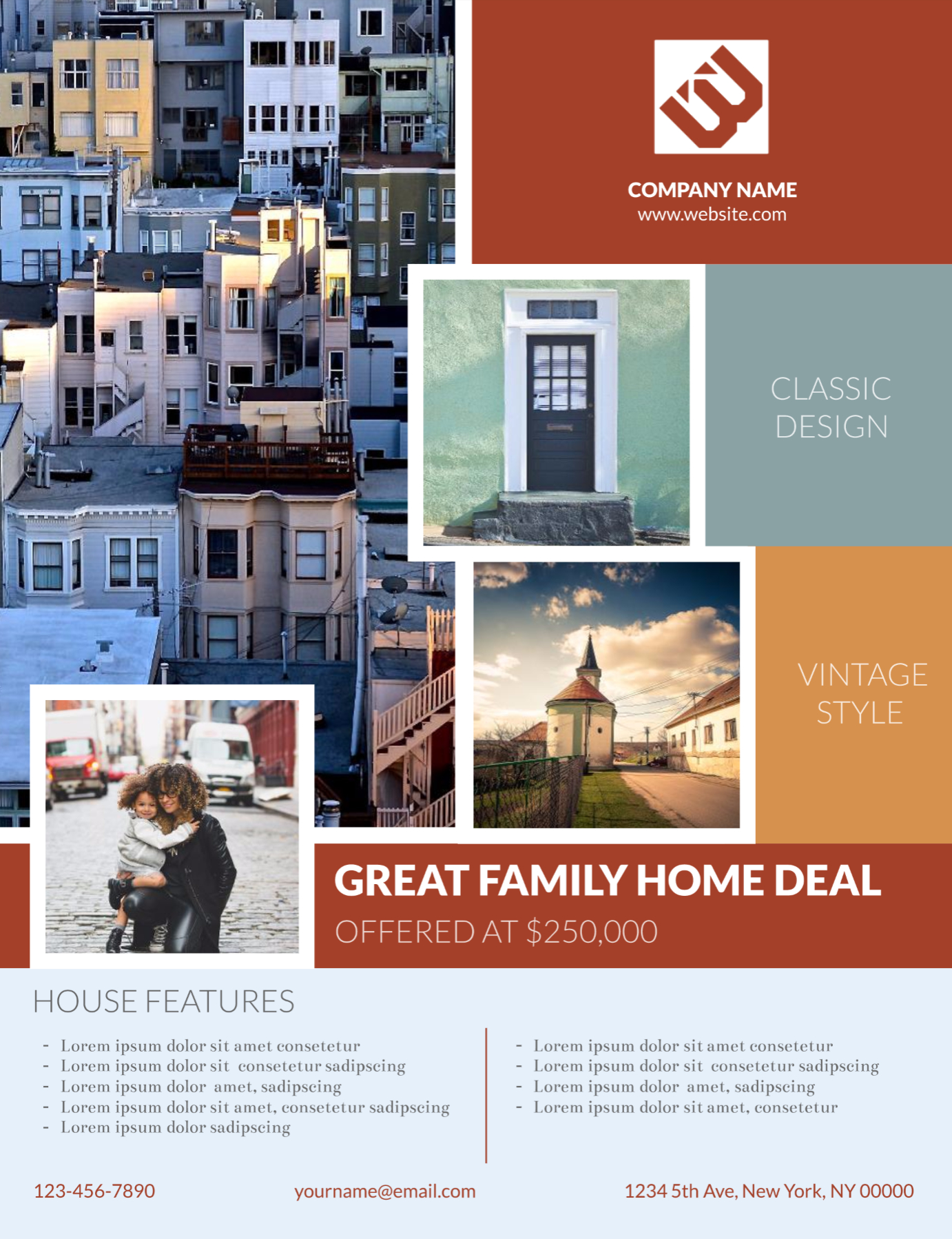 Bungalow Real Estate Flyer Template | Real Estate Marketing Ideas - Free Printable Real Estate Flyer Templates
