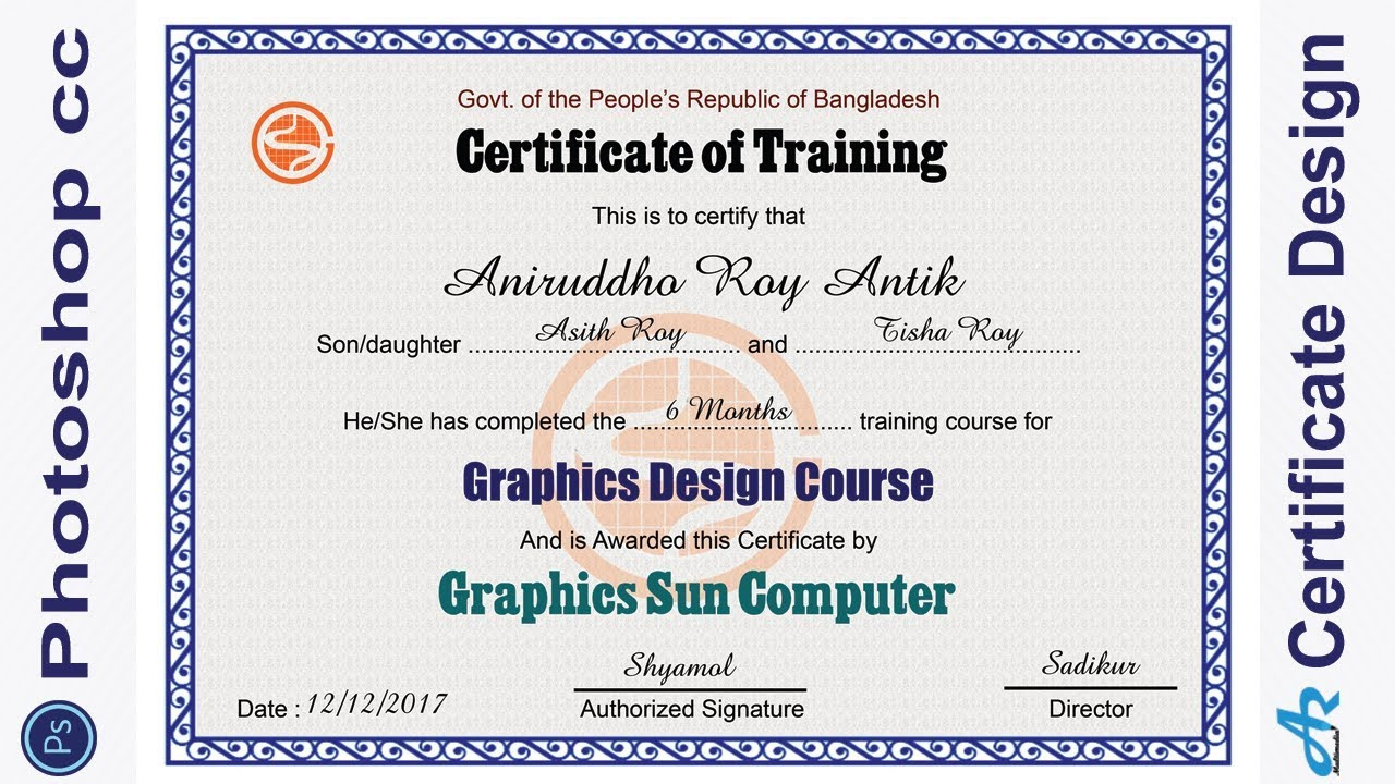 Business-Adobe Certified Expert In Photoshop -Certificate Template - Free Printable Wrestling Certificates
