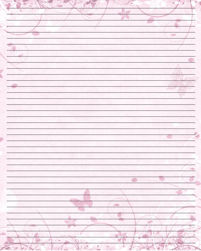Butterfly Free Printable Lined Stationery - 20.18.hus-Noorderpad.de • - Free Printable Stationery Writing Paper