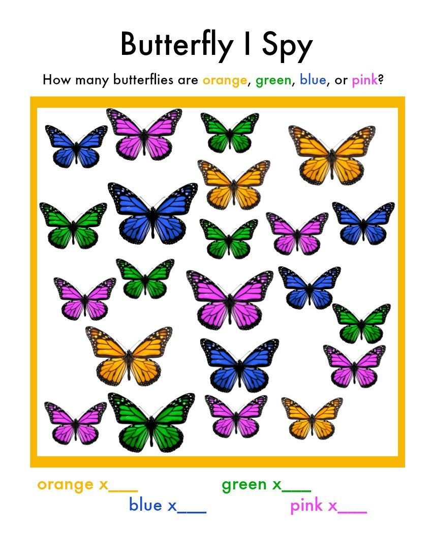 Butterfly I Spy Game   Diy, Crafts, Printables And Recipes - Free Printable I Spy Puzzles