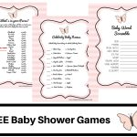 Butterfly Theme Baby Shower Free Printable Baby Shower Games Baby   Free Printable Baby Shower Game What's In Your Purse