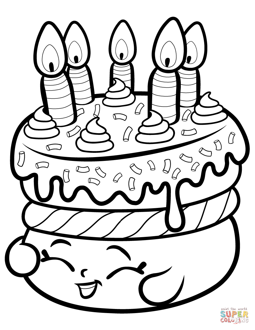Cake Wishes Shopkin Coloring Page   Free Printable Coloring Pages - Shopkins Coloring Pages Free Printable