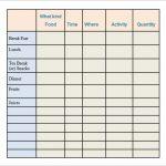 Calorie Log Printable   Yolar.cinetonic.co Inside Free Printable   Free Printable Calorie Counter Sheet