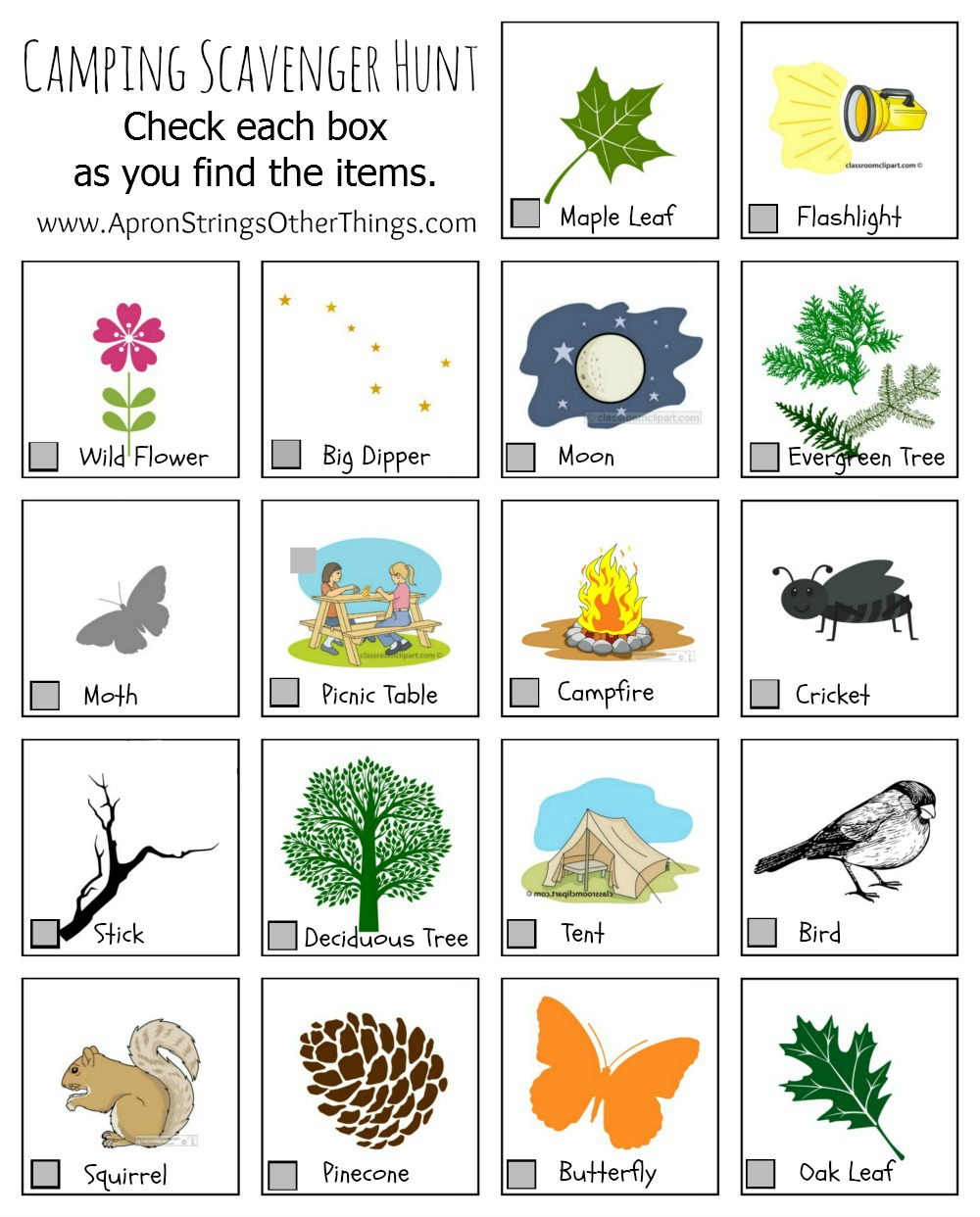 Camping Activities For Kids Printables - Free Printable Camping Games