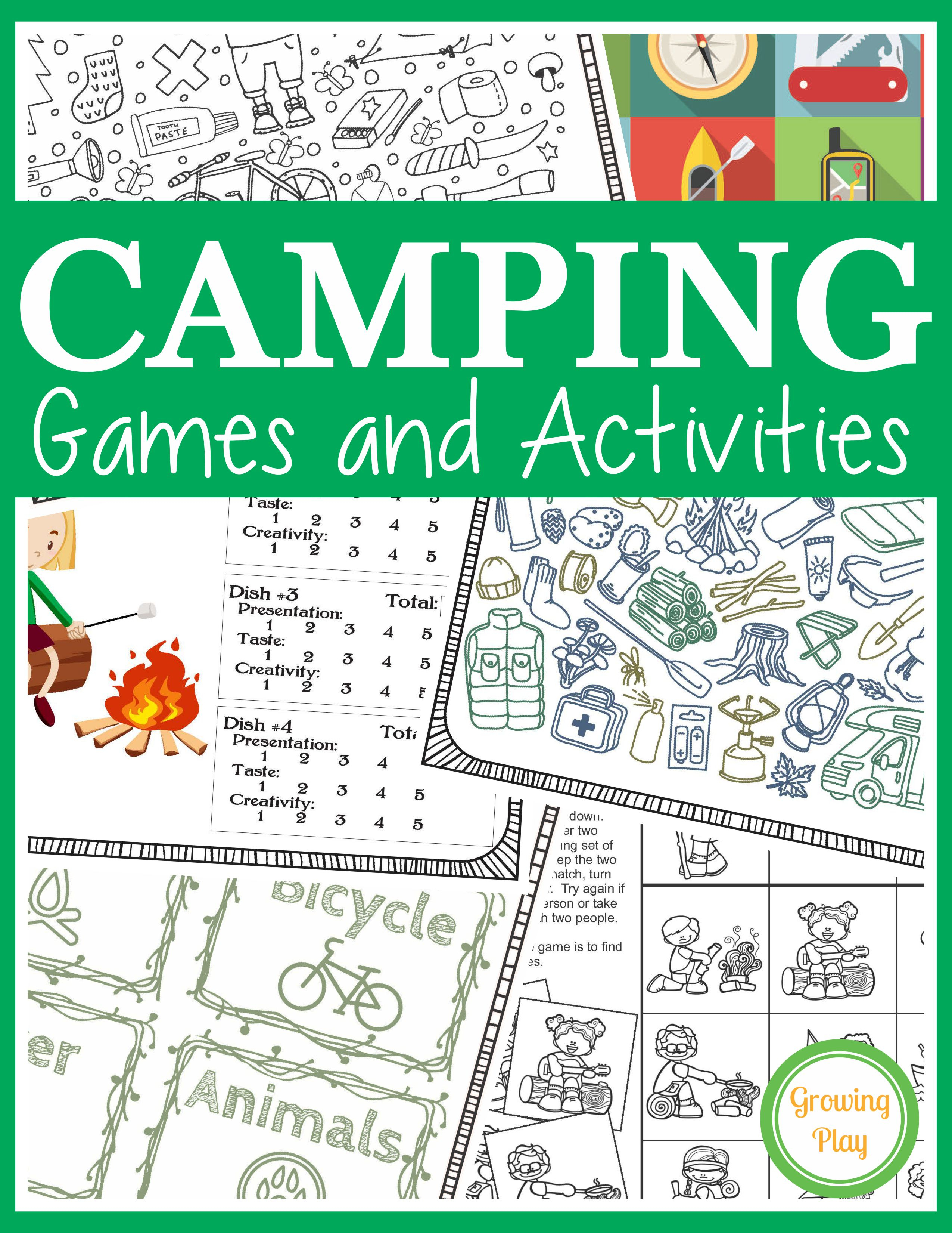 Camping Games And Activities - Growing Play - Free Printable Camping Games