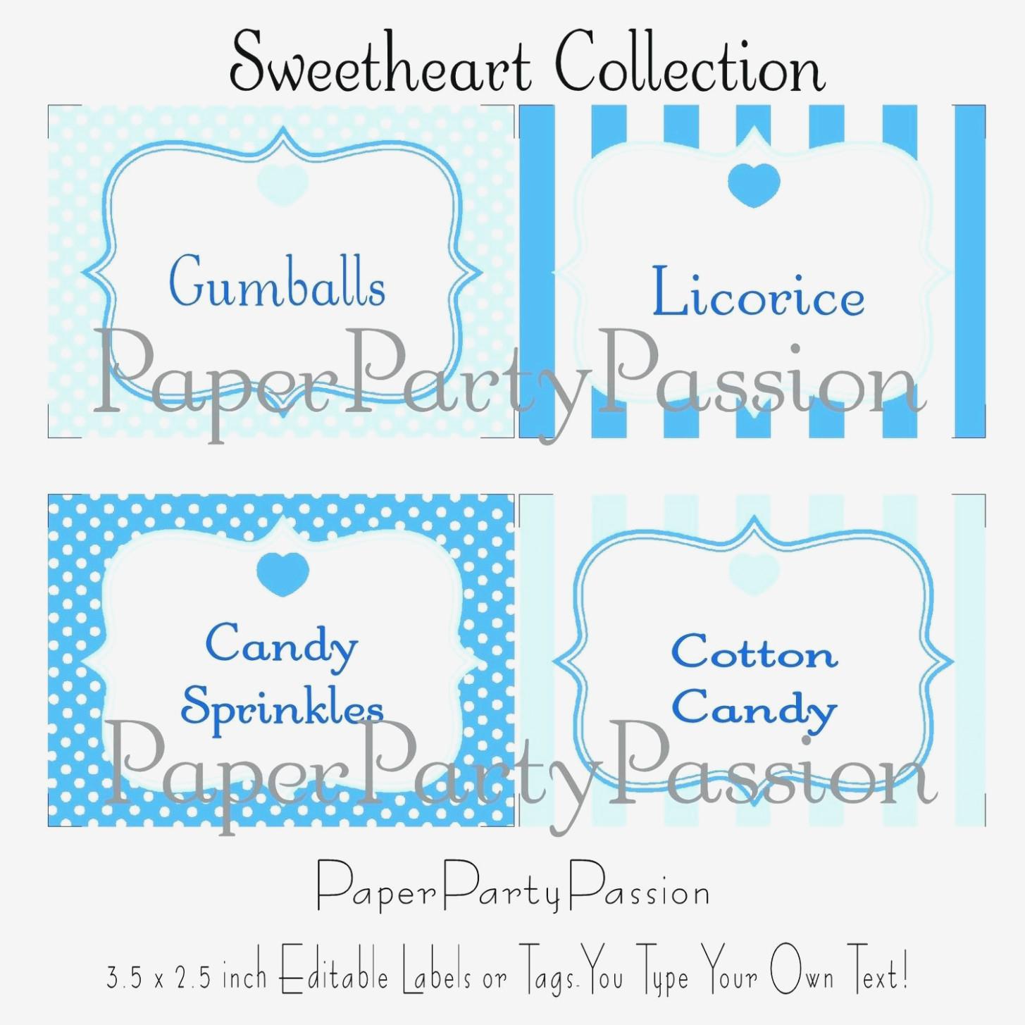 Candy Buffet Label Template – Candy Buffet Labels Free Printable - Free Printable Candy Buffet Labels Templates