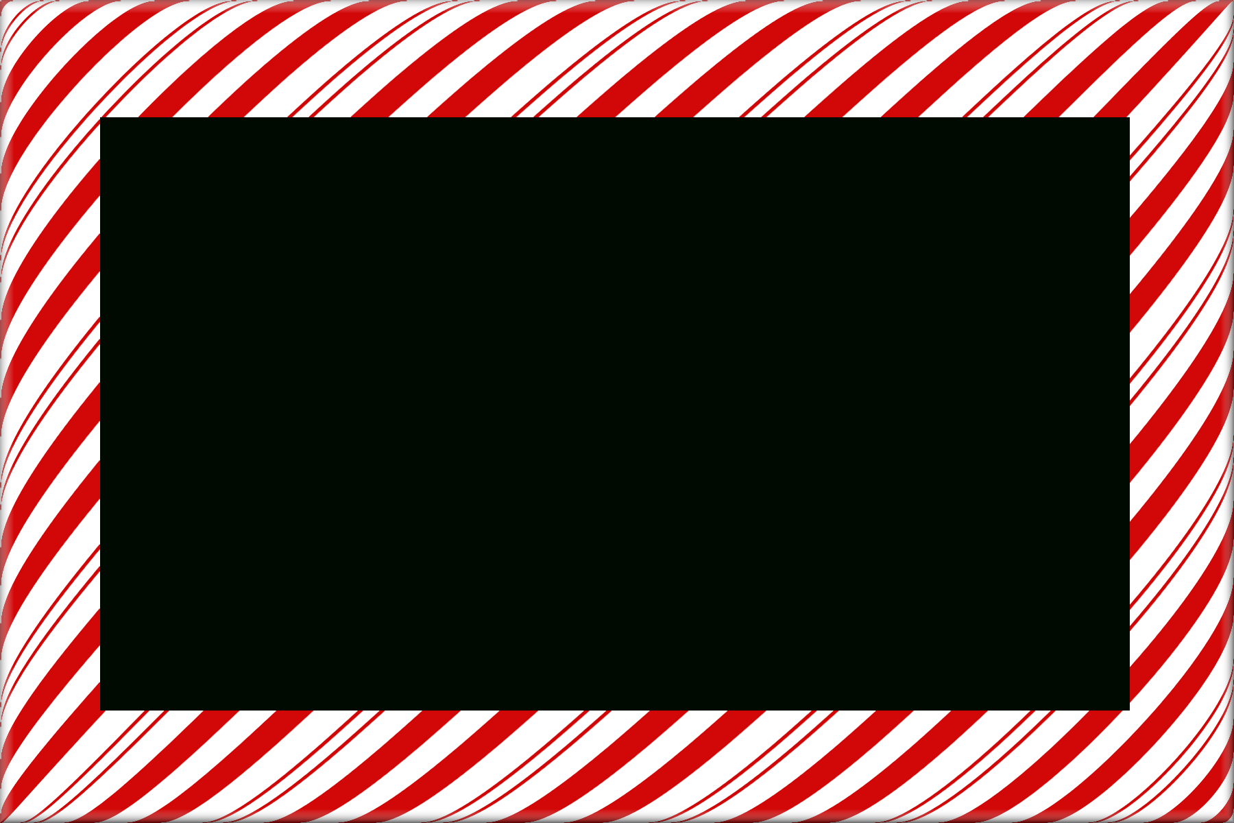 Candy Cane Christmas Borders And Frames | Digital Frames & Borders - Free Candy Cane Template Printable