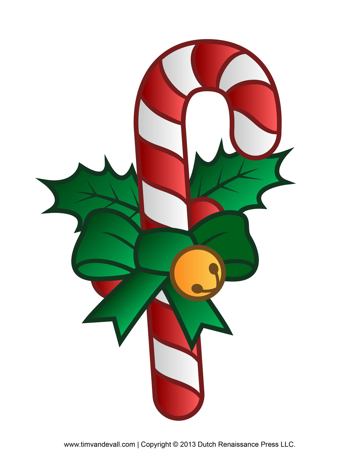 Candy Cane Free Clipart - Free Candy Cane Template Printable