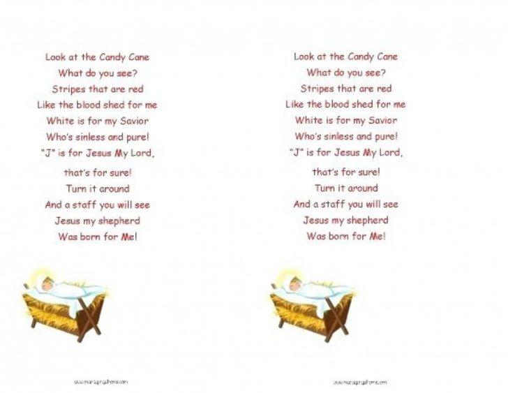 Free Printable Candy Cane Poem