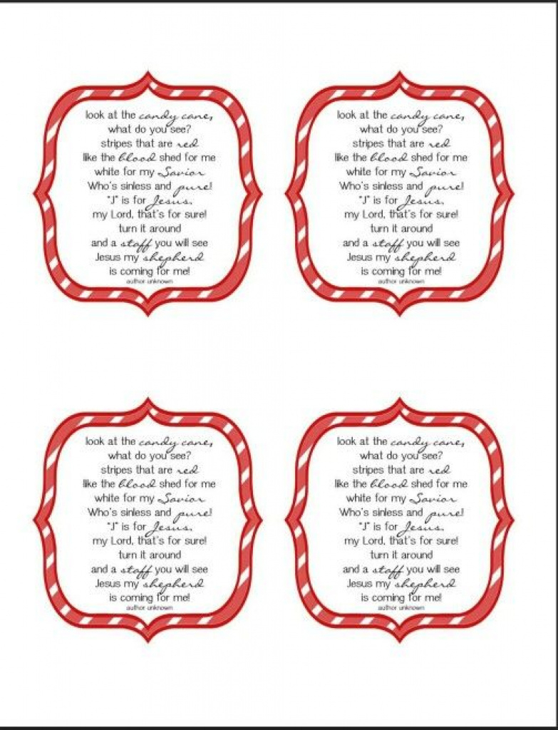 Candy Cane Story | Christmas Decor | Pinterest | Candy Canes And - Free Printable Candy Cane Poem