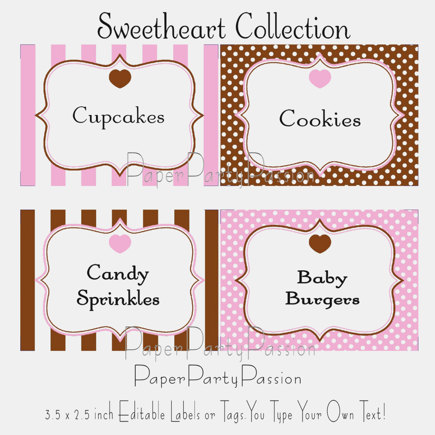 Candy Labels Templates – Keni.candlecomfortzone – Label Maker Ideas - Free Printable Candy Buffet Labels Templates