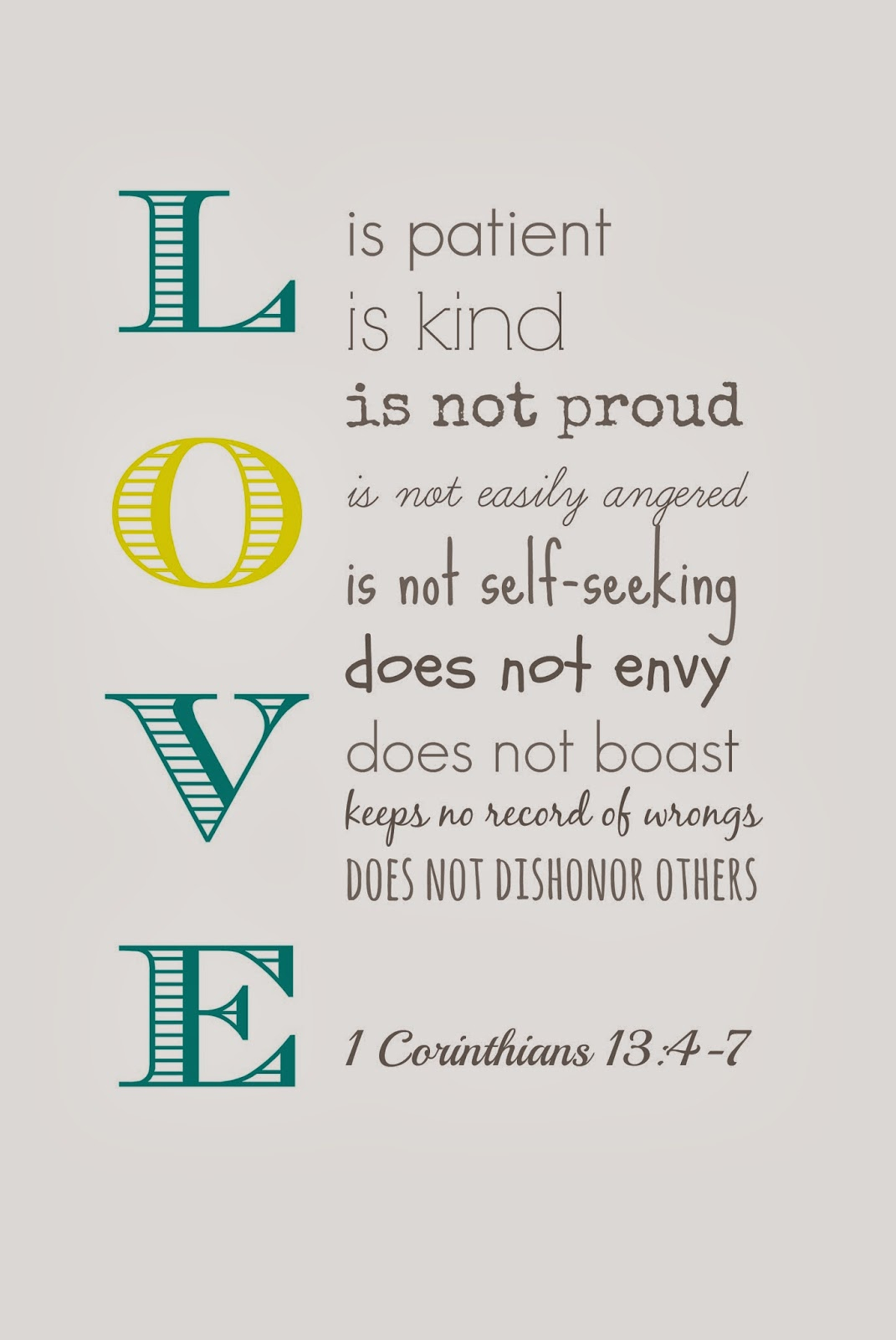 Carry Grace: Love Isfree Printable - Love Is Patient Free Printable