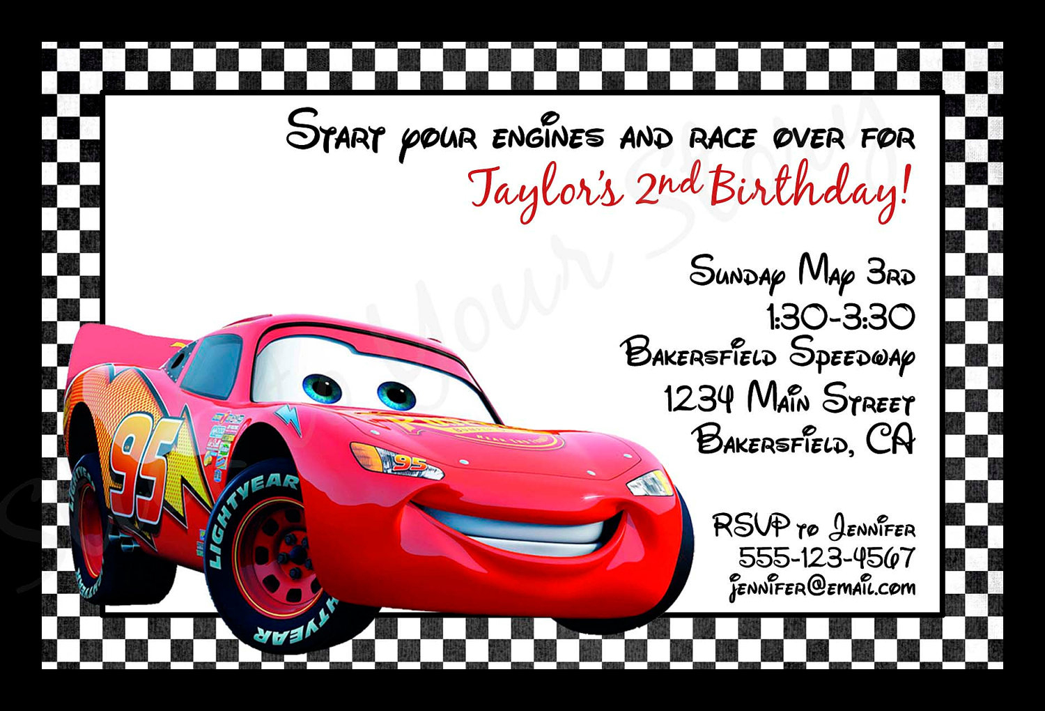 Cars Birthday Invitations Printable — Birthday Invitation Examples - Free Printable Disney Cars Birthday Party Invitations