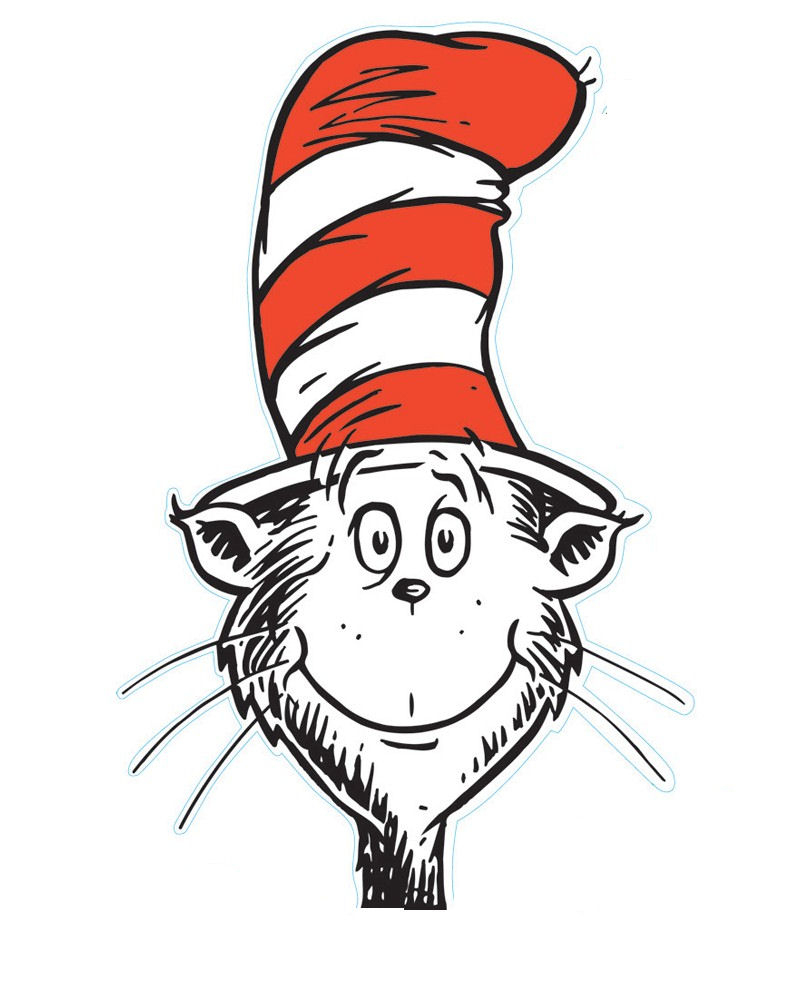 Cat In The Hat Head Clipart Collection - Free Printable Cat In The Hat Clip Art