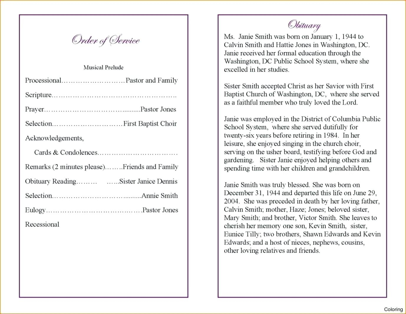Catholic Funeral Mass Booklet Template Example Simple Funeral Order - Free Printable Catholic Mass Book