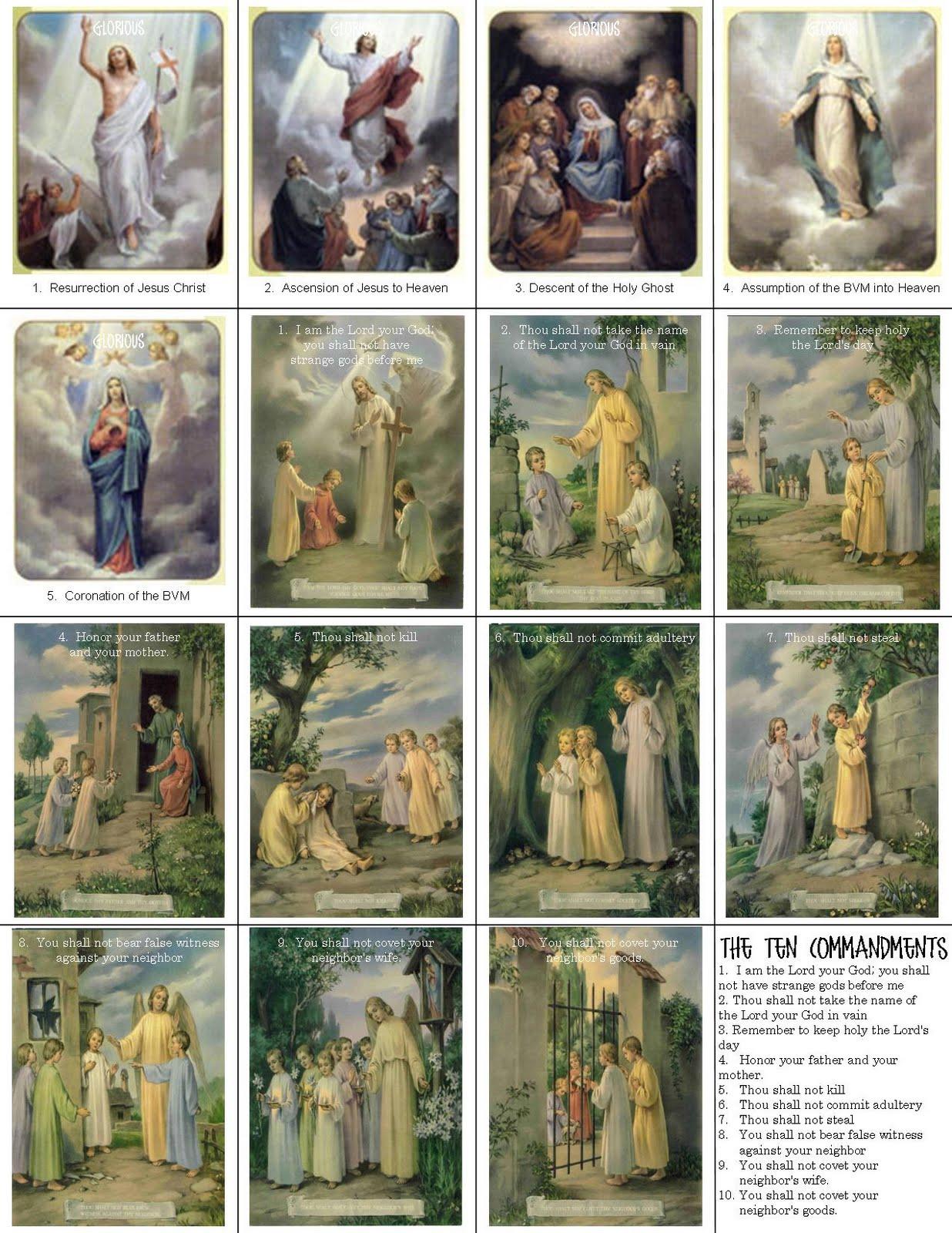 Catholic Prayer Cards - Free Printable Catholic Prayer Cards