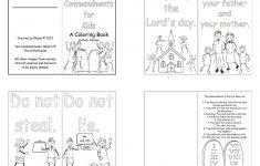 Catholic Ten Commandments Coloring Pages Printable   Coloring Book - Free Catholic Ten Commandments Printable