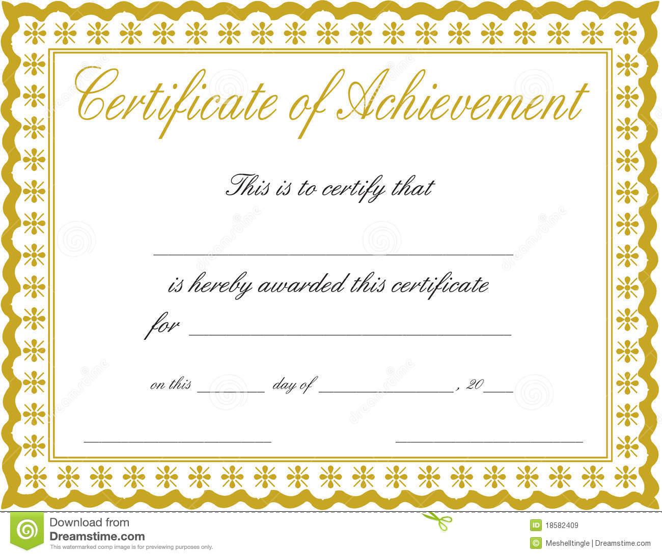 Certificate-Achievement-Printable-Doc-Pdf- - Free Printable Certificates Of Achievement