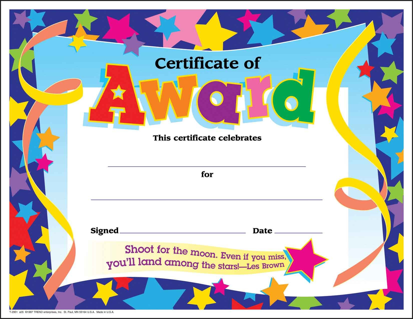 Certificate Template For Kids Free Certificate Templates - Free Printable Certificates