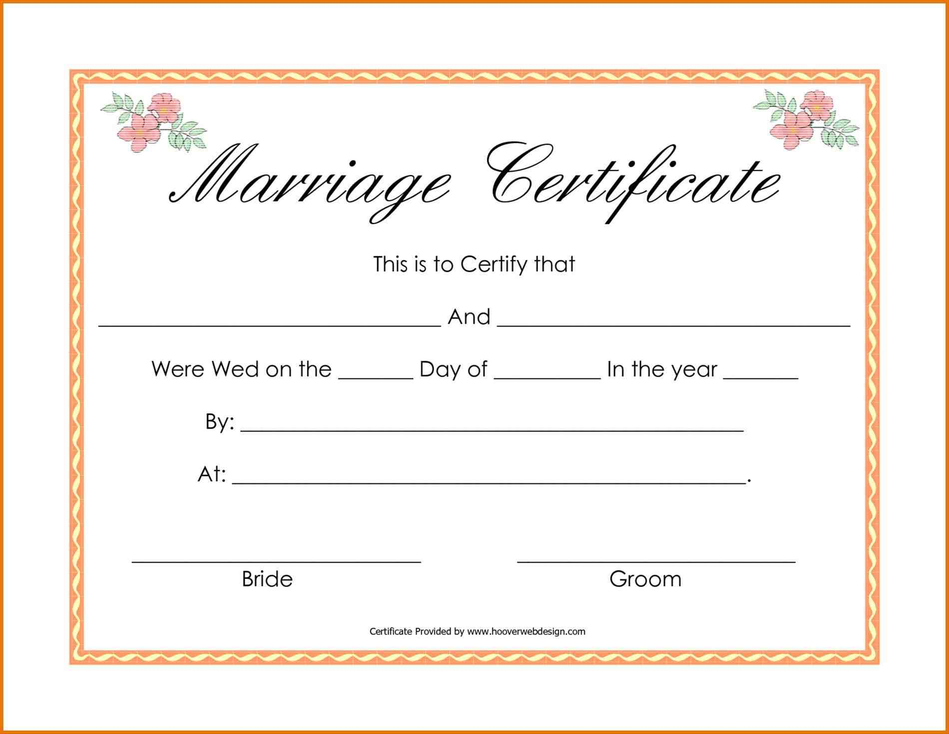Certificate-Template-Marriage-Certificate-Template-Free-Image - Free Printable Wedding Certificates