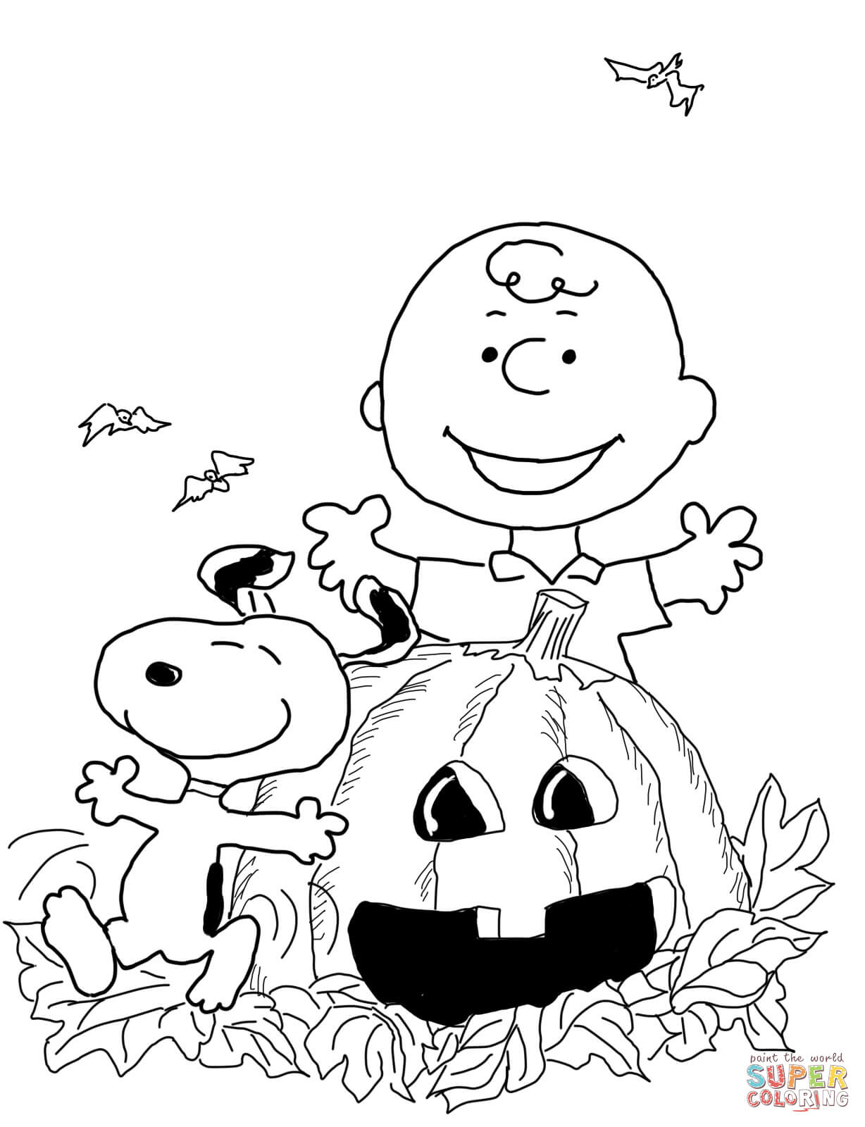 Charlie Brown Halloween Coloring Page | Free Printable Coloring Pages - Free Printable Charlie Brown Halloween Coloring Pages