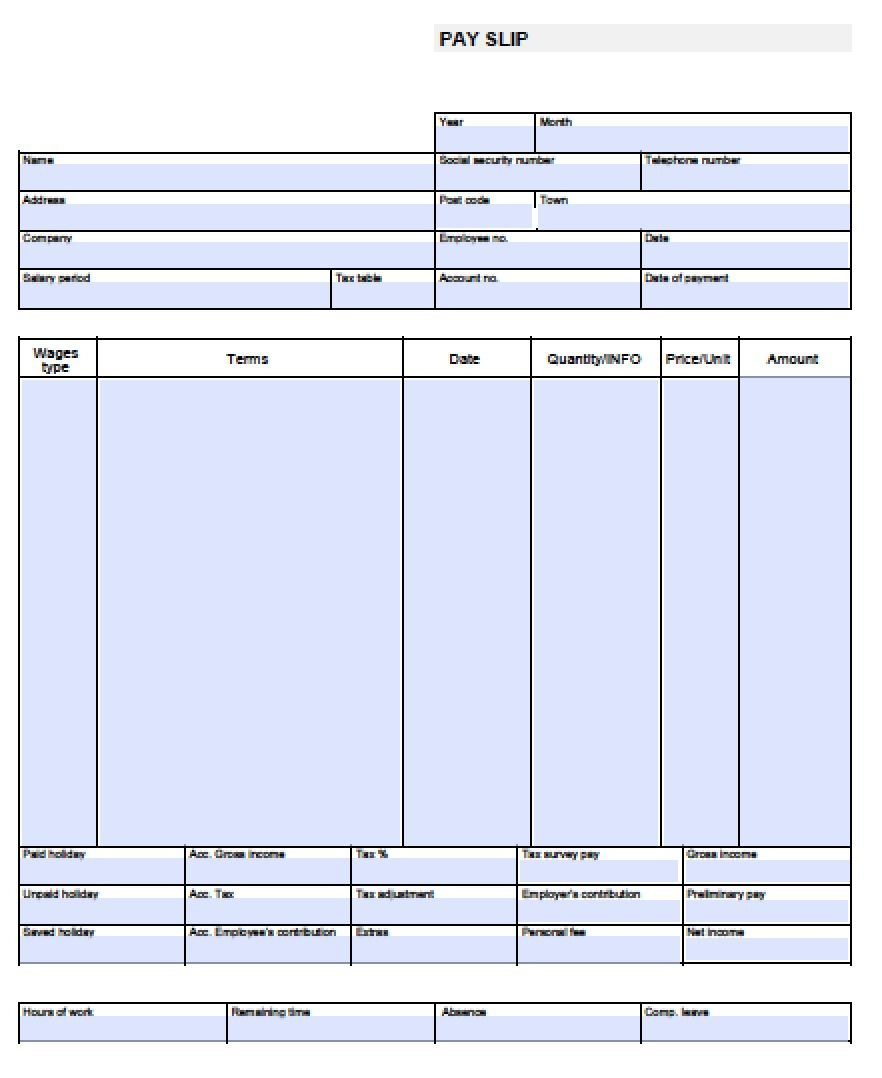 Check Stub Template Free | Pay Stub Template Free Blank-Usa-Pay-Stub - Printable Pay Stub Template Free