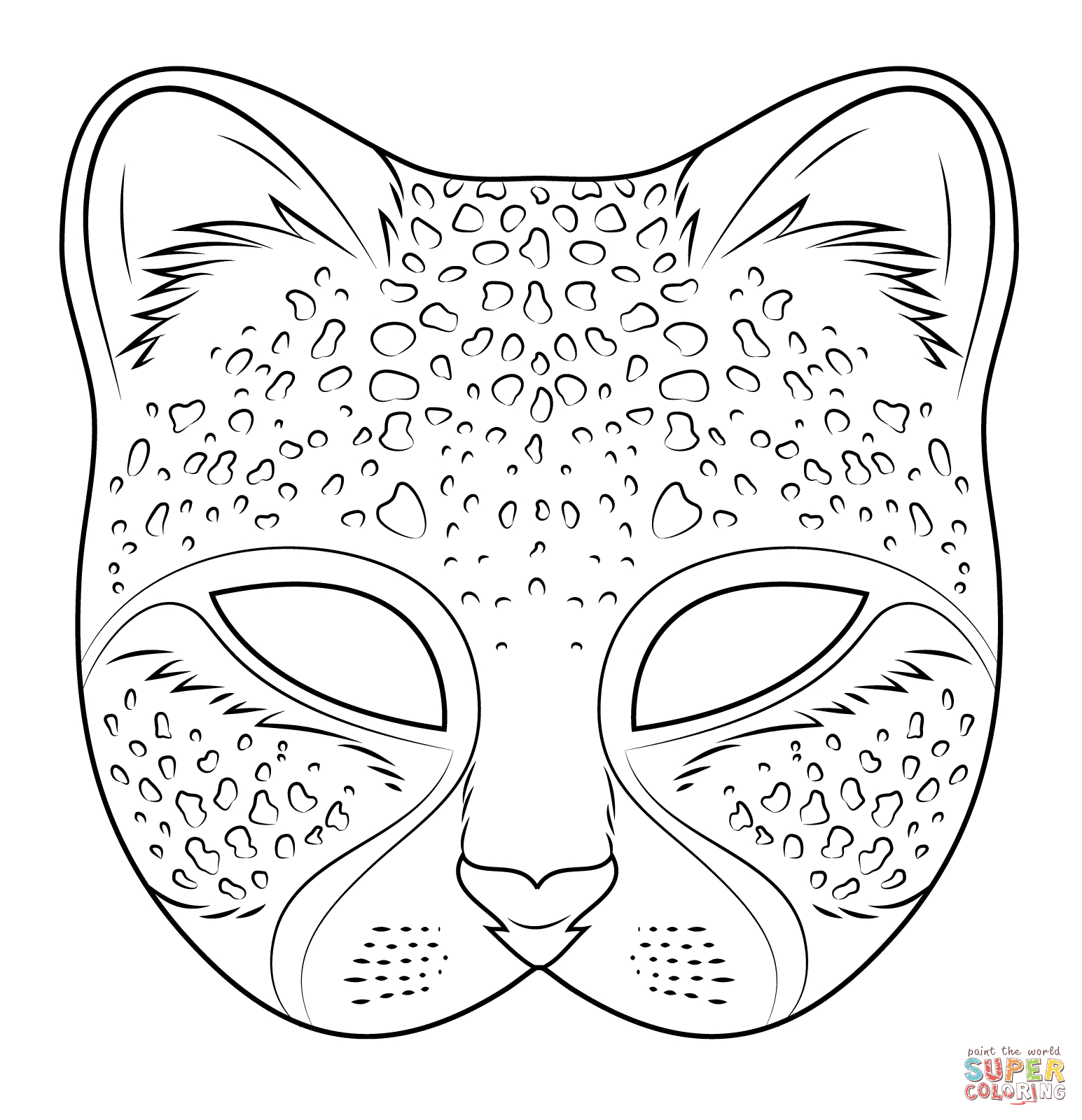 Cheetah Mask | Super Coloring … | Karneval | Pinte… - Free Printable Hippo Mask
