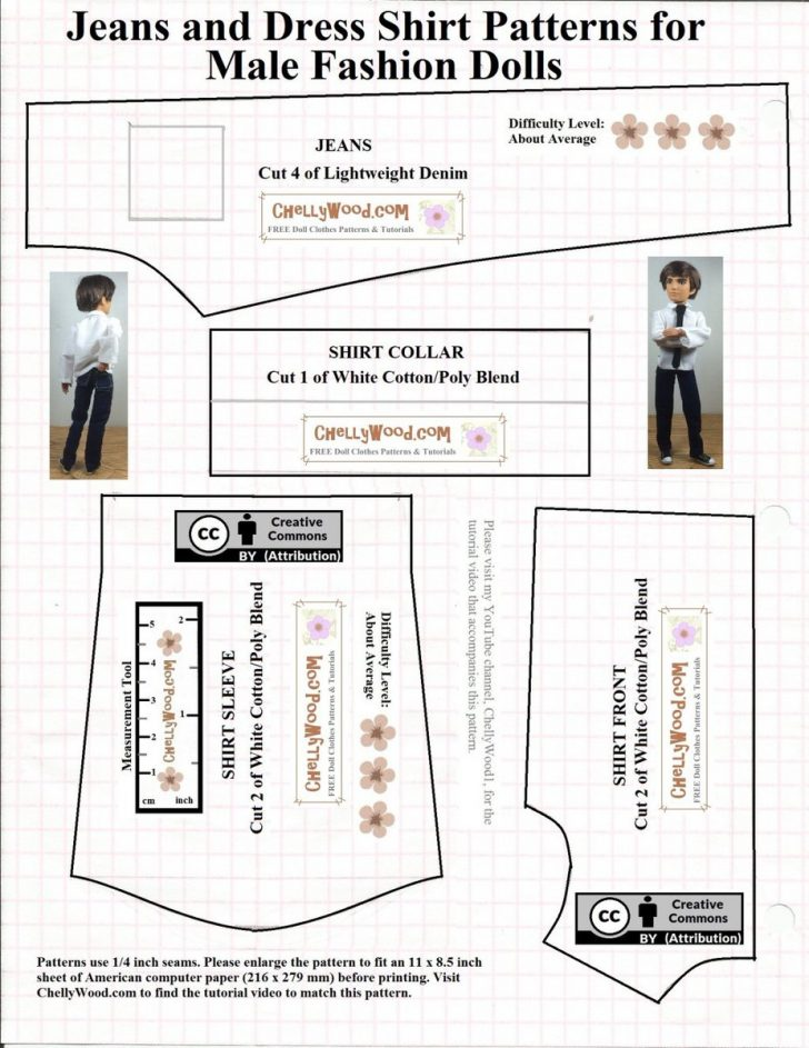 Ken Clothes Patterns Free Printable