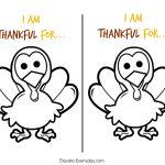 Children's Thanksgiving Activity | Thankful Turkeys   Elevate Everyday   Free Turkey Cut Out Printable