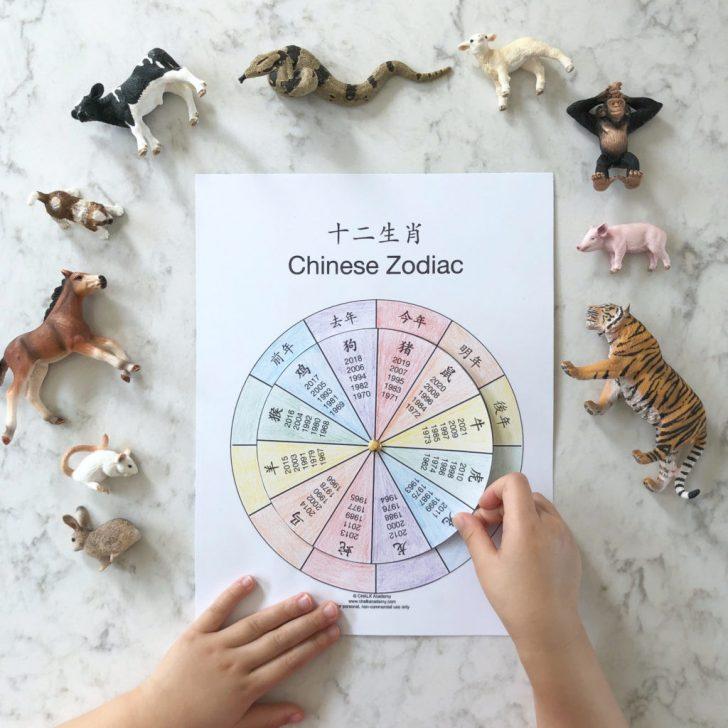 Free Printable Chinese Zodiac Wheel