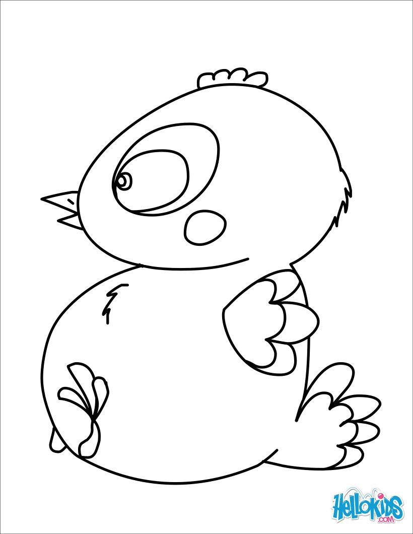 Chocolate Baby Chick Coloring Pages - Hellokids - Free Printable Easter Baby Chick Coloring Pages