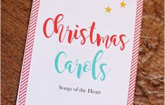 Free Printable Christmas Carols Booklet
